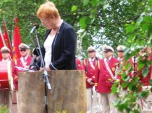 Presidentti Tarja Halonen puhuu Tie Tammisaareen tapahtumassa